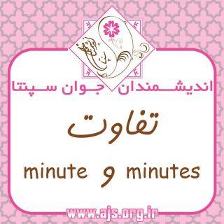 """📚 #تفاوت بین #minute و #minutes :  📚 The #difference between #minutes & #minute""""  🔶 اگر اسامی زمان مثل #minute برای #بیان_زمان باشند و به عنوان #اسم استفاده شوند ، حتما S #اس_جمع_میگیرند :  🔸 The walk takes five minutes. 🔸 پیاده روی پنج دقیقه طول کشید  🔸 The exam takes two hours 🔸 امتحان دو ساعت طول میکشد """"بیان زمان""""  🔷 اما اگر اسامی زمان مثل #minute به عنوان #صفت استفاده شوند S #اس_جمع_نمیگیرند و #قبل_از_اسم بهکار میروند.  🔹 A five- minute walk  🔹 پیاده روی پنج دقیقه ای """"صفت""""  🔹 A two-hour exam  🔹 امتحان دو ساعته """"صفت""""  #choose_wisely #اندیشمندانه_انتخاب_کنید لینک کانال 👈  @ajs_org"""